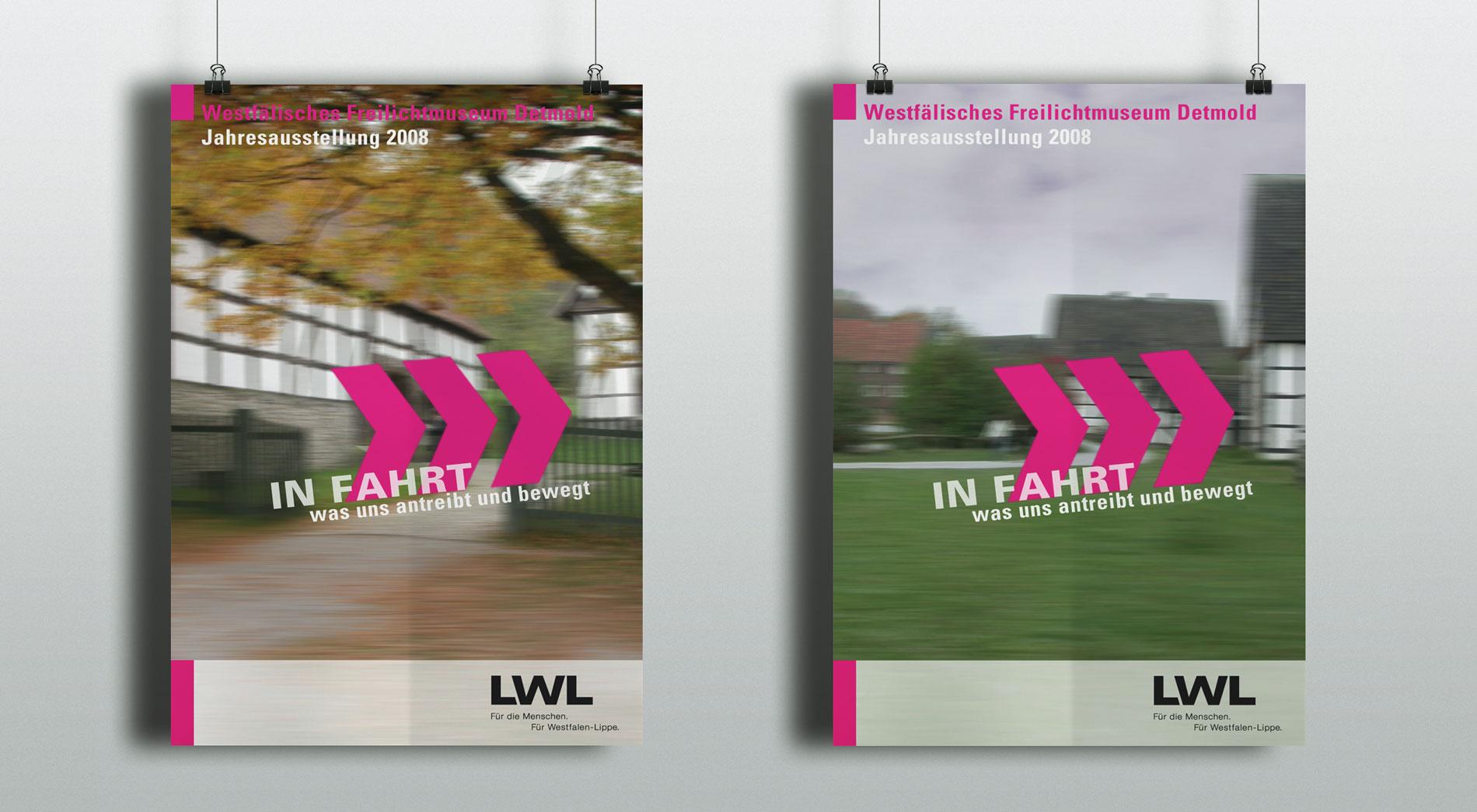 Plakate für das Themenjahr In Fahrt