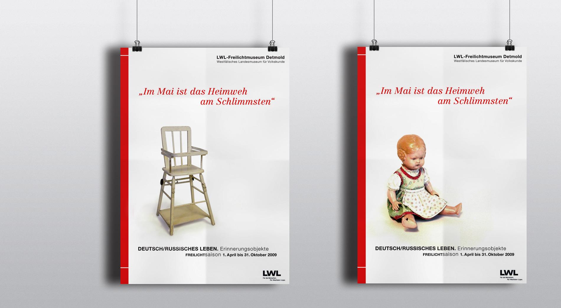 Plakate. Wettbewerb AusstellungDeutsch/russisches Leben. Erinnerungsobjekte