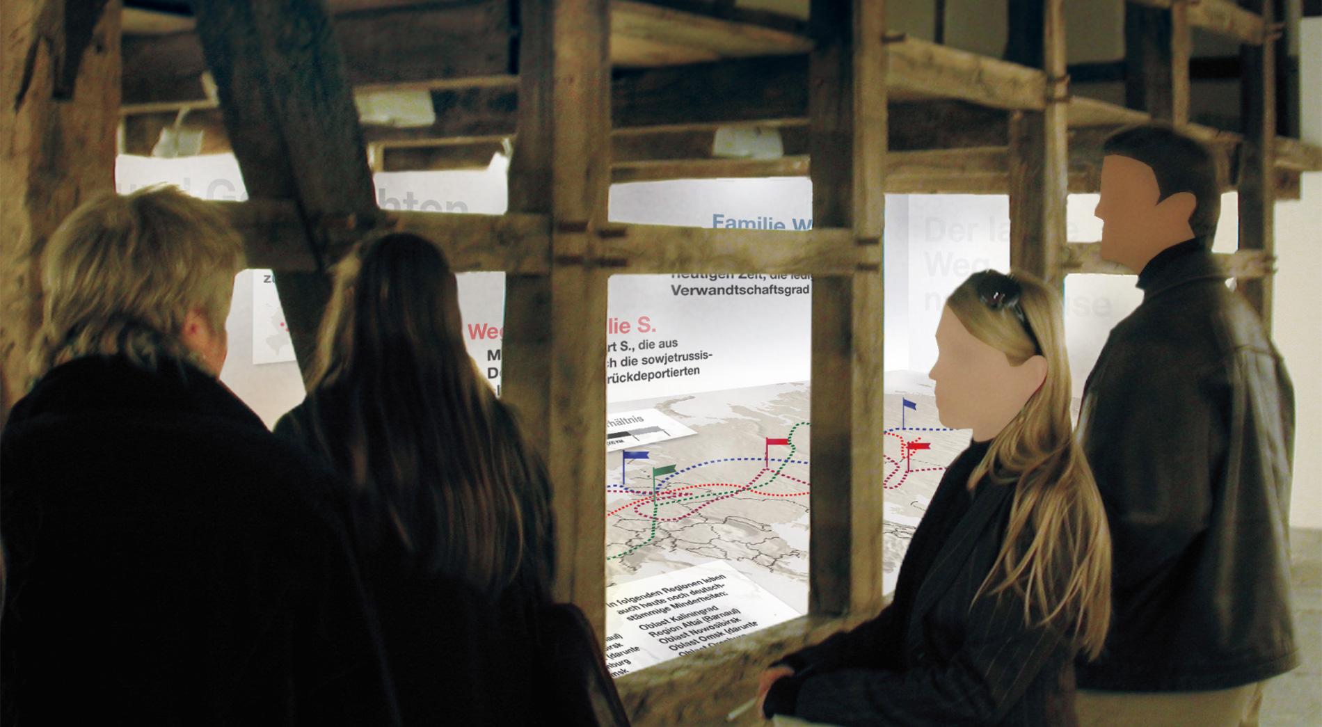 Karte. Wettbewerb AusstellungDeutsch/russisches Leben. Erinnerungsobjekte