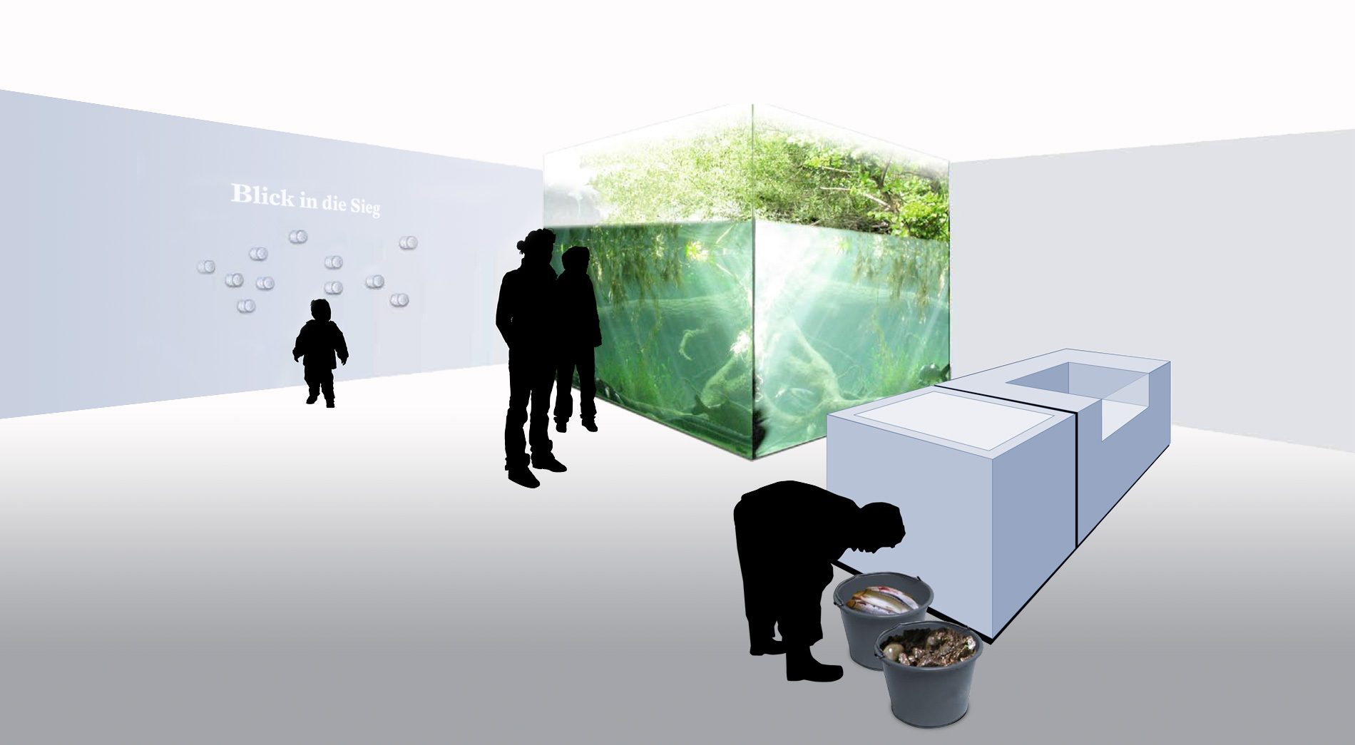 Untergeschoss Wettbewerb Fischereimuseum Bergheim