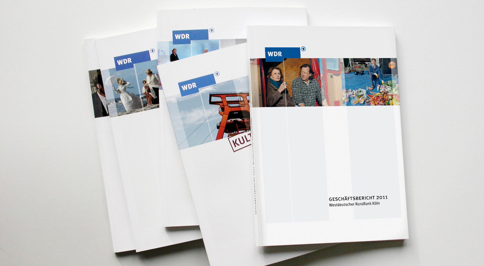 Titel der WDR Geschäftsberichte 2007 bis 2011