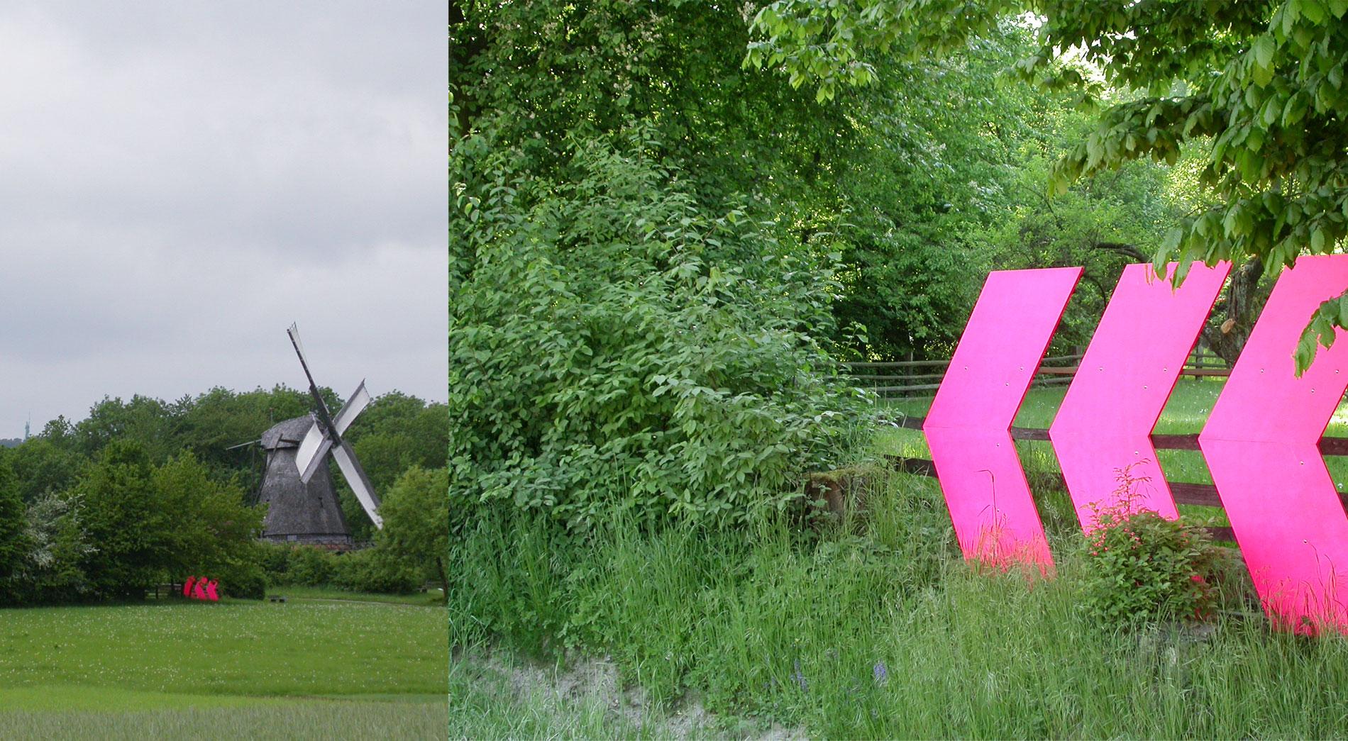 In Fahrt, Jahresausstellung 2008 des Freilichtmuseum Detmold, Wegweiser, Leitsystem