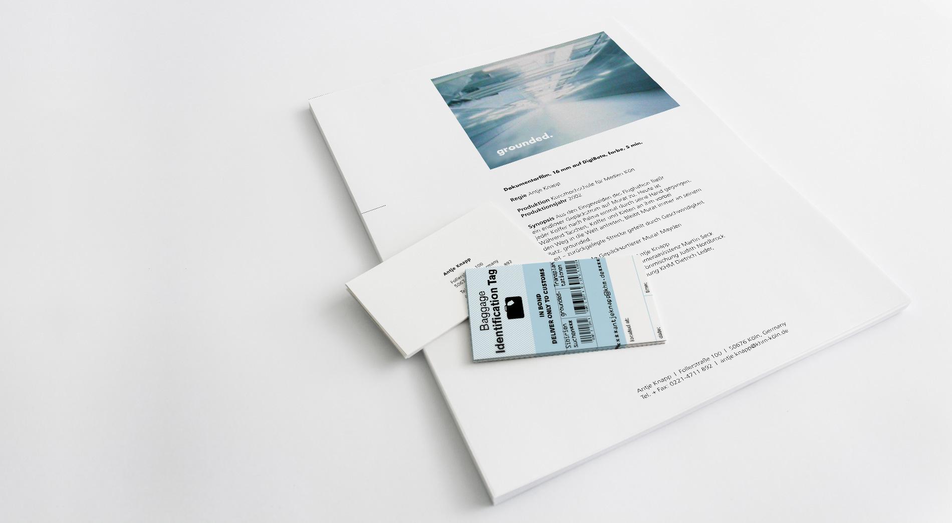 Exposéevorlage und Visitenkarte