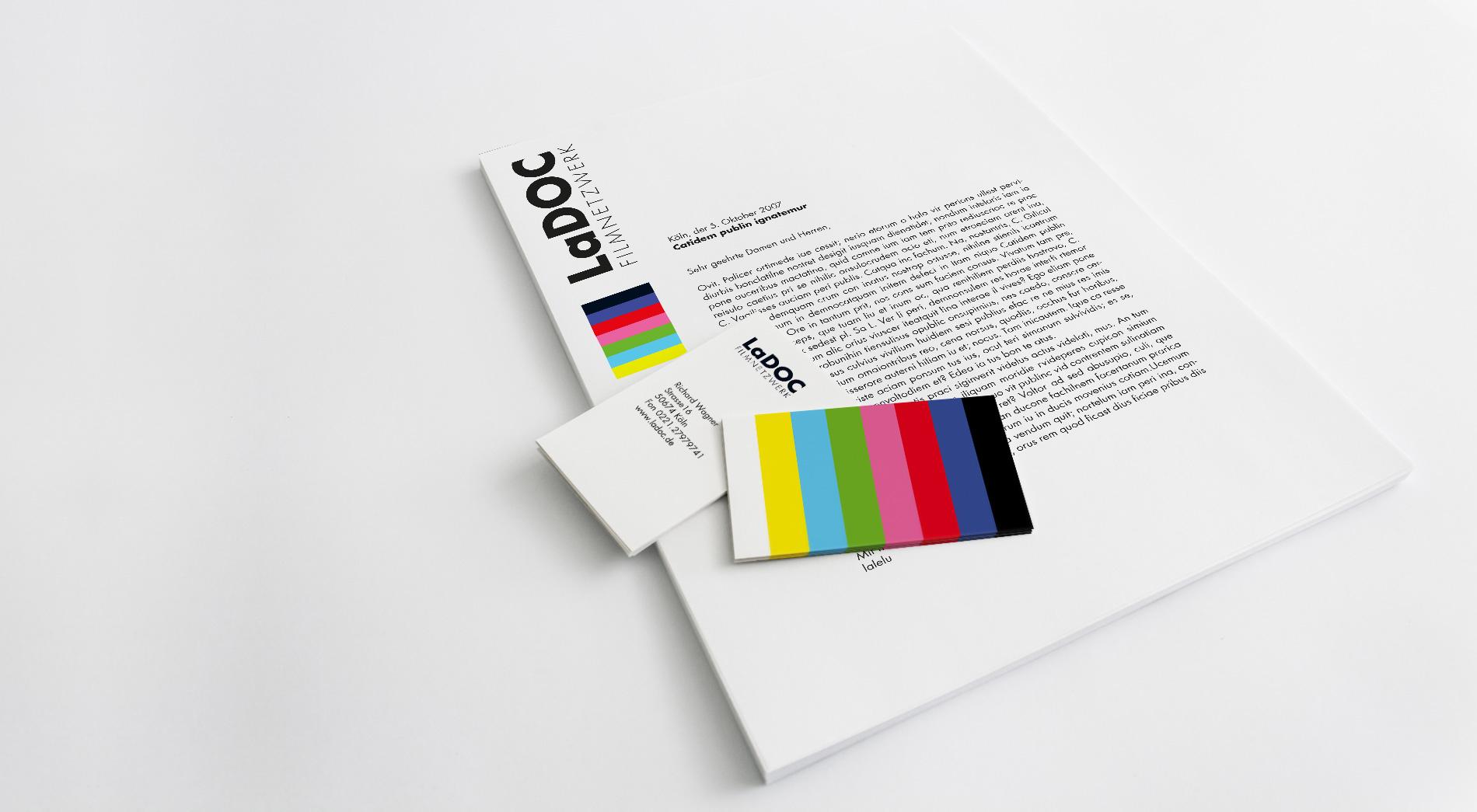 Briefpapier und Visitenkarten LaDOC Filmnetzwerk