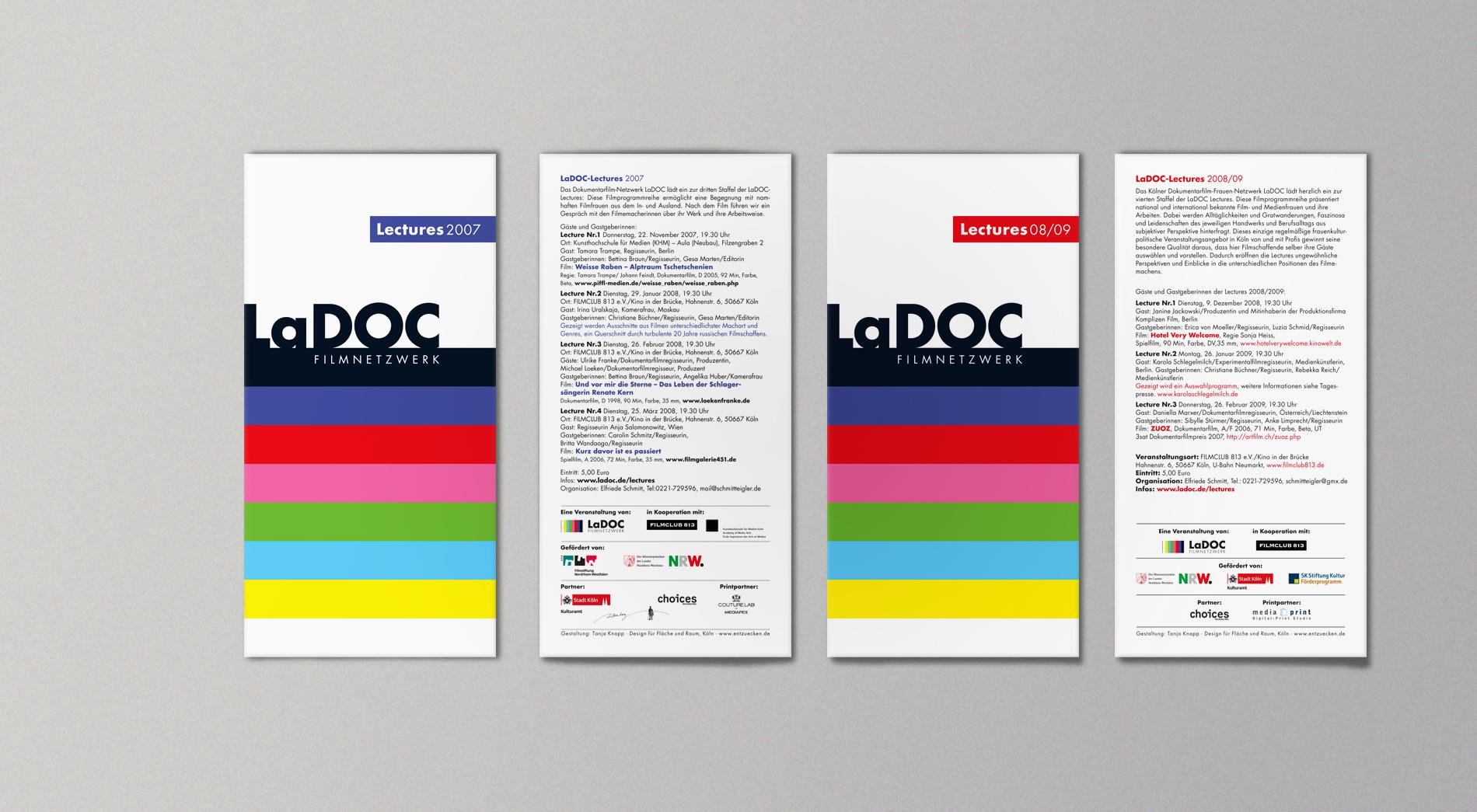 LaDOC Flyer der Jahre 2007 und 2008, Vorder und Rückseite
