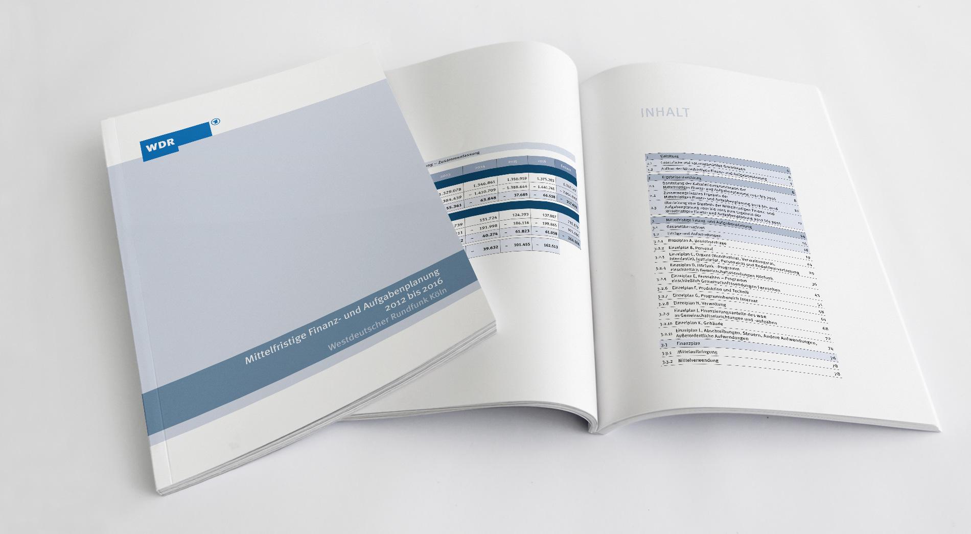 WDR Finanzpublikationen 2012, Mittelfristige Finanz- und Aufgabenplanung 2012 bis 2016, Titel