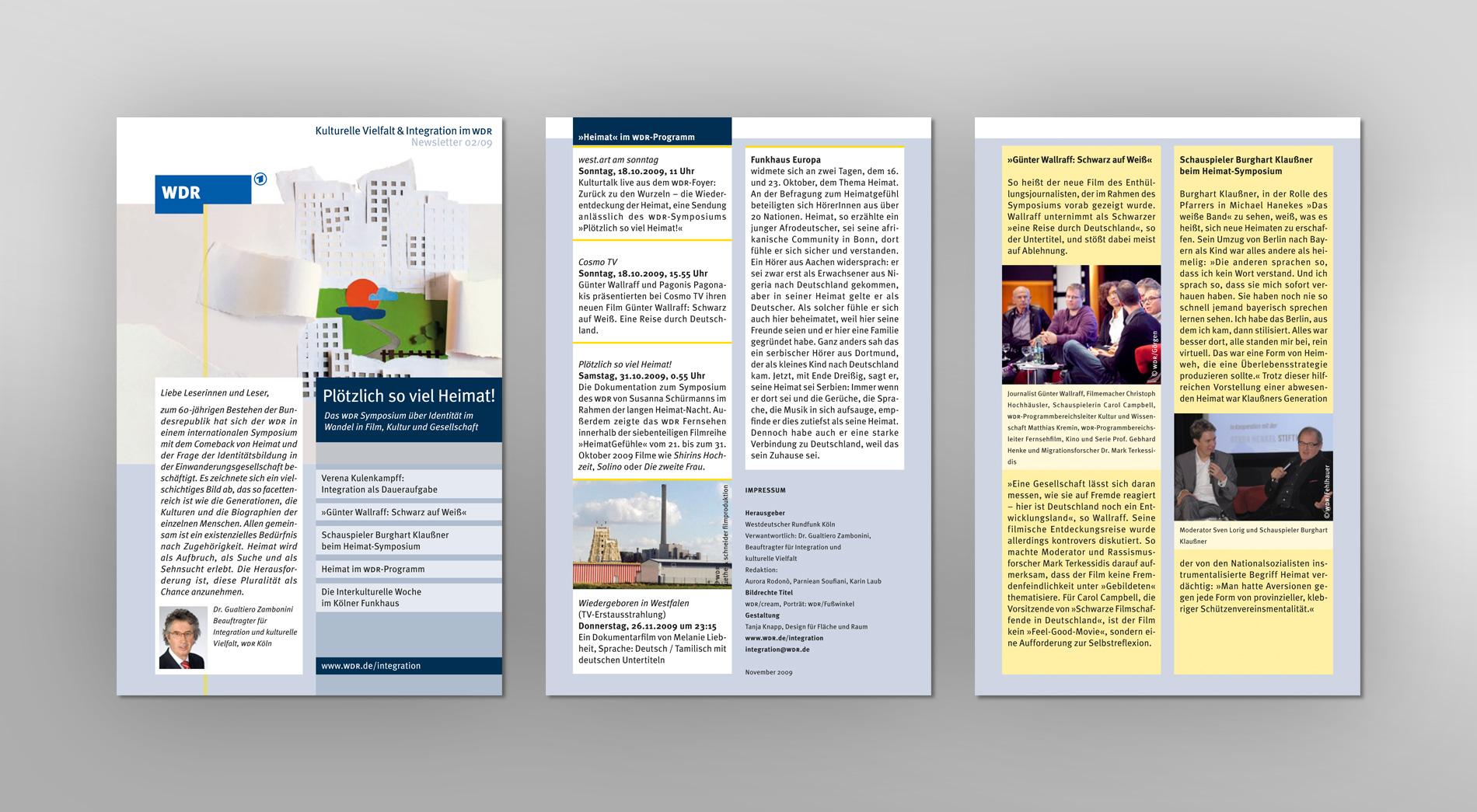 WDR Newsletter 02/2009 für kulturelle Vielfalt und Integration