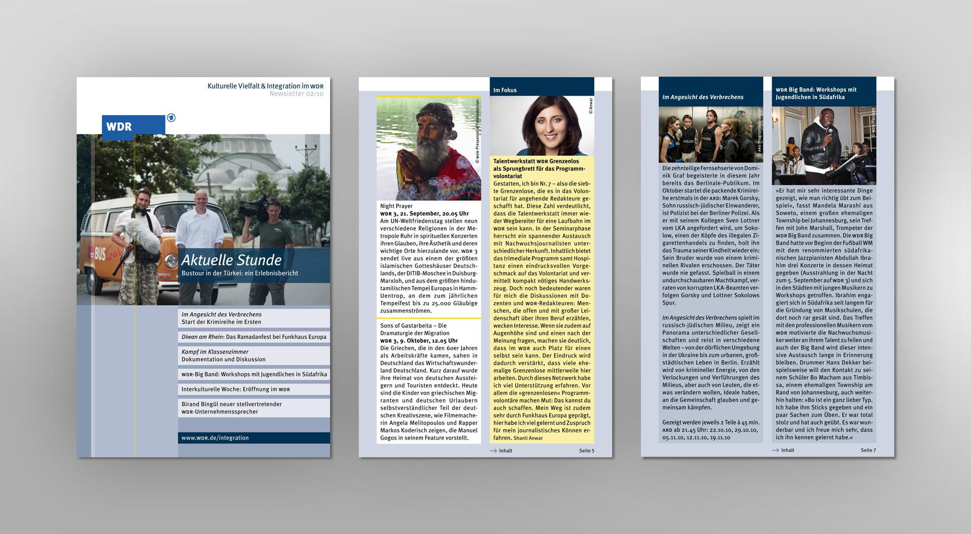 WDR Newsletter 02/2010 für kulturelle Vielfalt und Integration