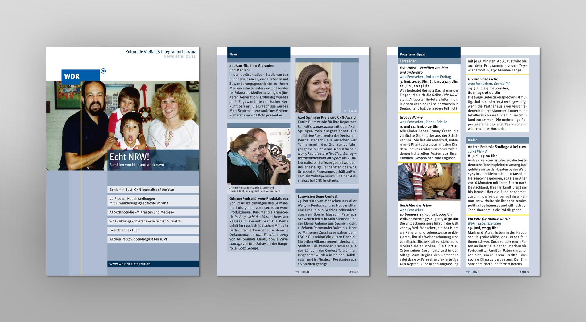 WDR Newsletter 01/2011 für kulturelle Vielfalt und Integration