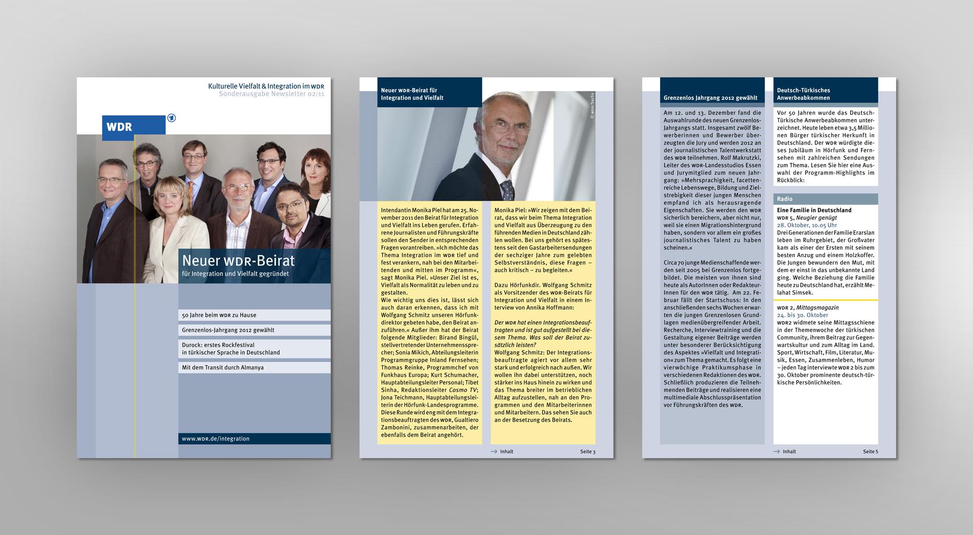 WDR Newsletter 02/2011 für kulturelle Vielfalt und Integration