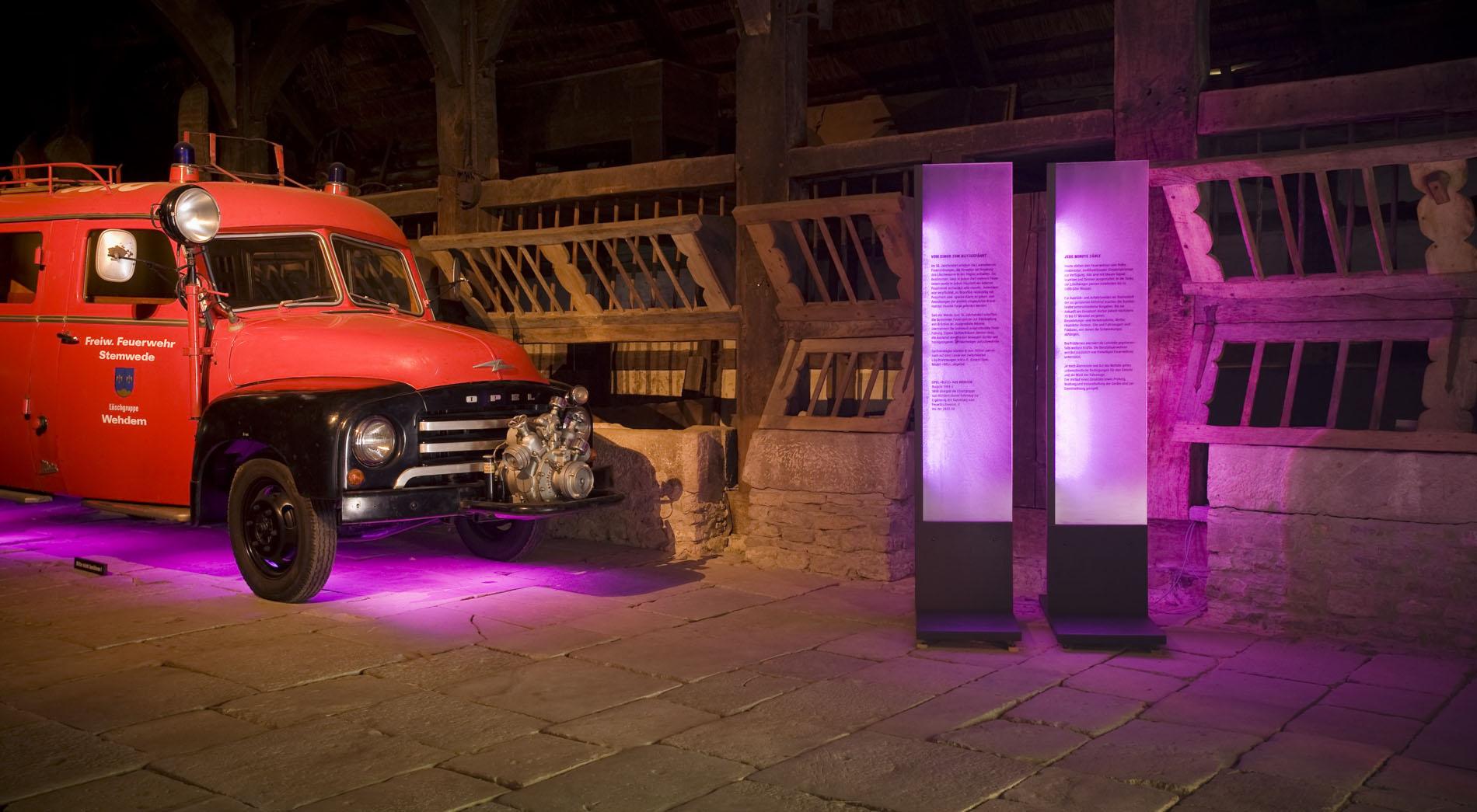 Infostation Rettung der Jahresausstellung 2008 des Freilichtmuseum Detmold