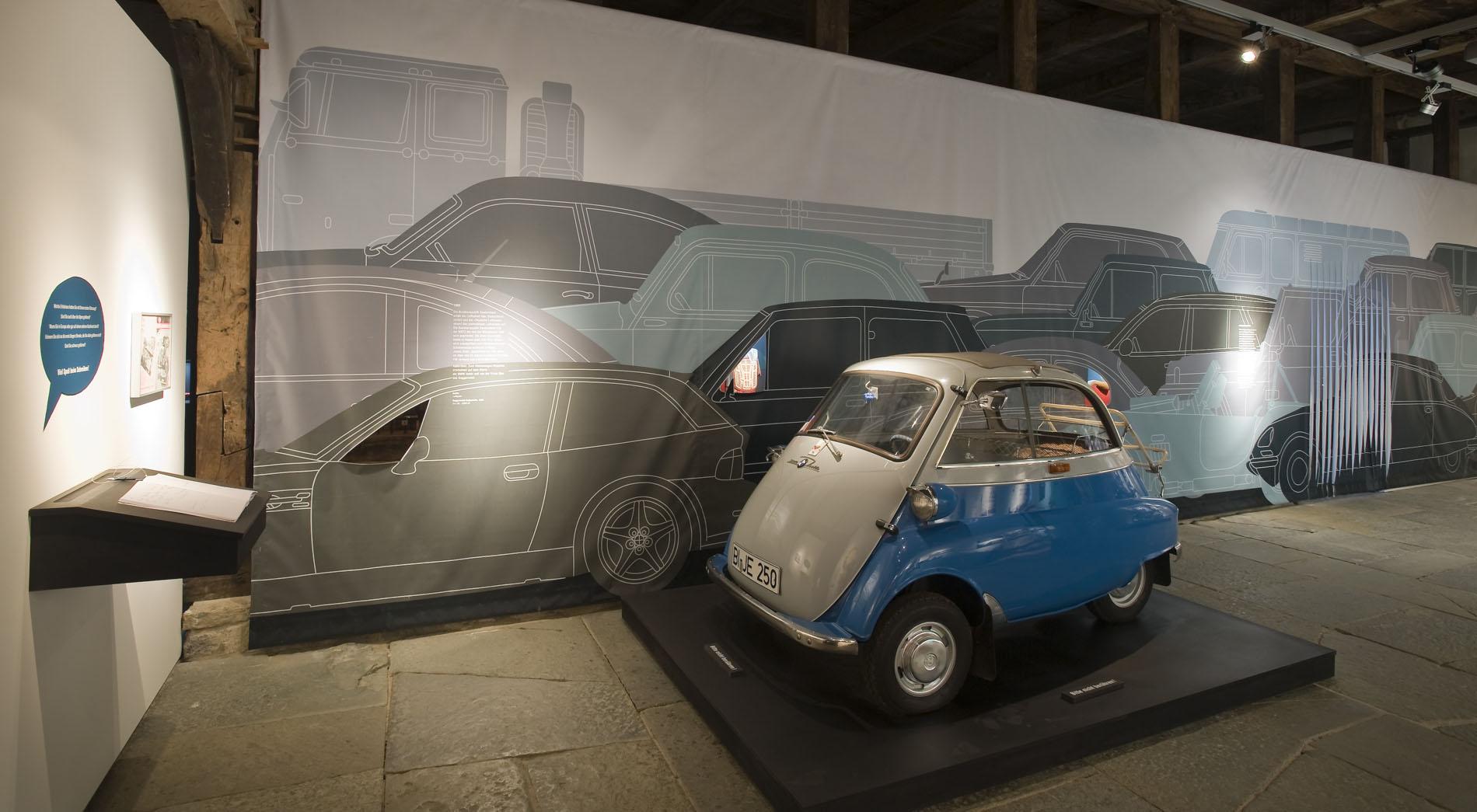 Isetta im Stau, Mein erstes Fahrzeug, Freilichtmuseum Detmold