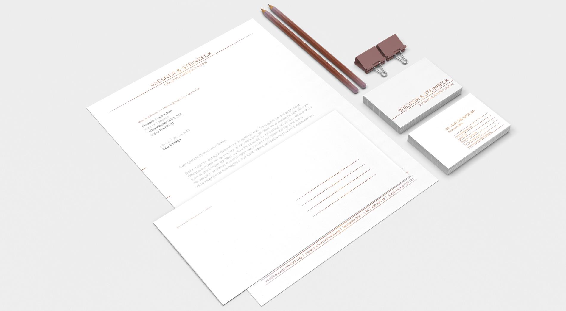 Briefpapier und Visitenkarten für Rechtsanwälte